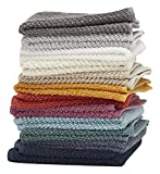 Washcloths, 12 Pack, 100% Extra Soft Ring Spun Cotton, Size 13'' X 13'', Soft and Absorbent, Machine Washable, Vibrant Assorted Colors