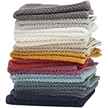 """Washcloths, 12 Pack, 100% Extra Soft Ring Spun Cotton, Size 13"""" X 13"""", Soft and Absorbent, Machine Washable, Vibrant Assorted Colors"""
