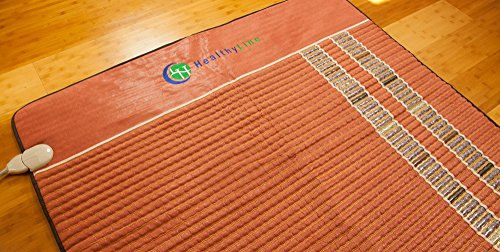 HealthyLine Infrared Heating Mat - Relieve Pain, Sore Muscles, Arthritis and Injury Recovery (Soft) Natural Amethyst, Jade, Obsidian & Tourmaline Ceramic (King) 80″ x 76″  US FDA by HealthyLine (Image #5)