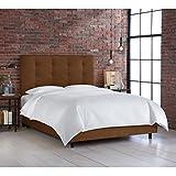 Best Premier King Bed Frames - Skyline Furniture Button Tufted Bed, King, Premier Chocolate Review