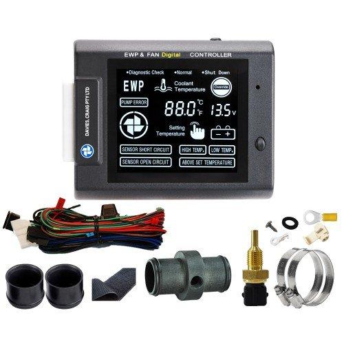 EWP電動ウォーターポンプ&ファンデジタルコントローラー(単品)水温センサー付属 B07BK2X7XX