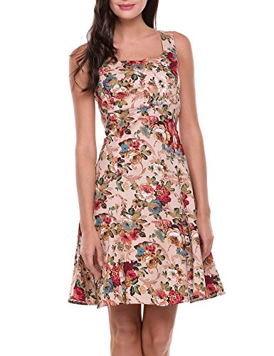 ACEVOG-Women-Floral-Retro-Square-Neckline-Sleeveless-Swing-Party-Vintage-Dress