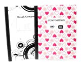 Hearts Comp Notebook and Graph Notebook ~ Pack of 2