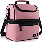 Hap Tim Lunch Box Insulated Lunch Bag Large Cooler Tote Bag for Adult,Men,Women,Kids, Double Deck Cooler for Office/School/Picnic/Travel/Camping(16040-PK)