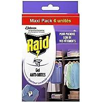 Raid–Gel repelente de polillas, aroma a lavanda, Maxi