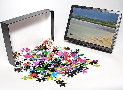 Photo Jigsaw Puzzle of Small boats in the River Camel estuary near the Town bar sand bar, Padstow