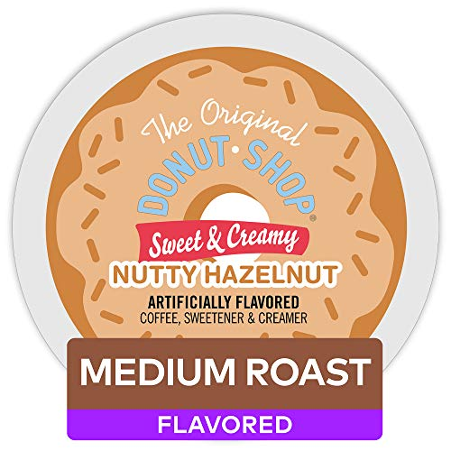 Creamy Lightweight (The Original Donut Shop Keurig Single-Serve K-Cup Pods, Sweet and Creamy Hazelnut Medium Roast Coffee, 60 Count (6 Boxes of 10 Pods) (packaging may vary))