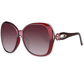 LQQAZY Gafas De Sol Polarizadas Hembra Cara Redonda Caja Grande Gafas De Sol Marea Personalidad Elegante