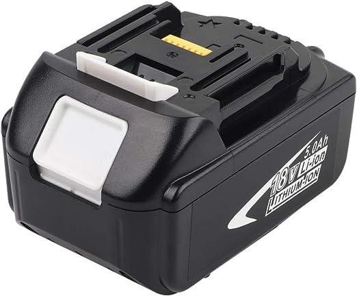 2x 18V 5.0Ah Batteries de Remplacement Li-ion Compatibles avec Batterie Makita