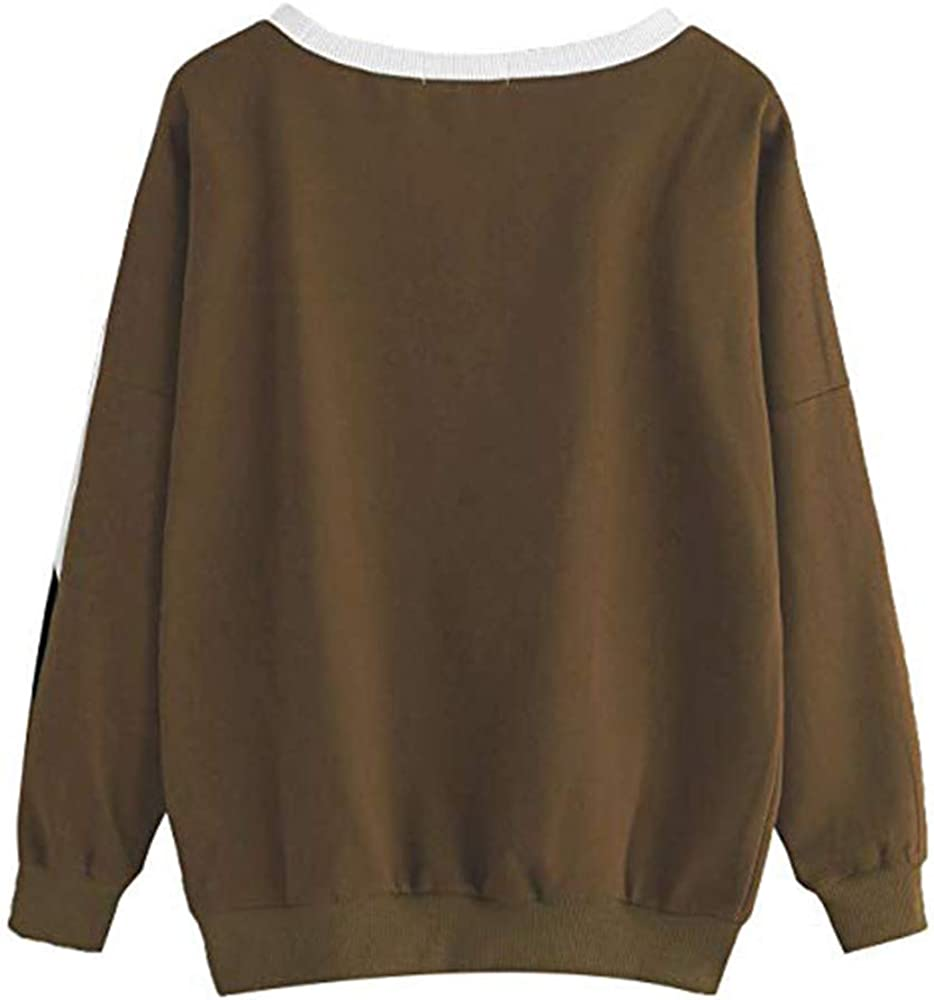 Blouses for Women,Womens Tops Long Sleeve CasualStitching Sweatshirt Pullover Top Blouse