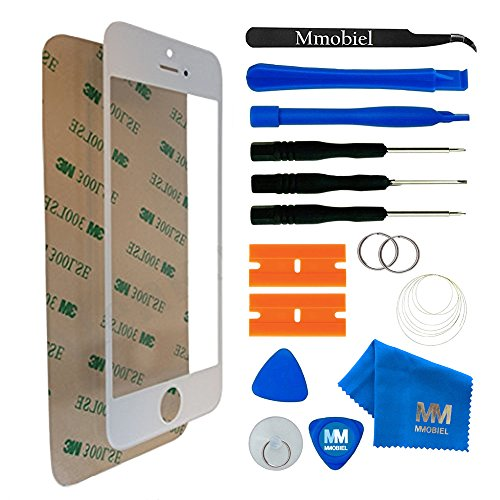 (MMOBIEL Front Glass Replacement Compatible with iPhone 5 5S SE (White) Display Touchscreen incl Tool Kit)