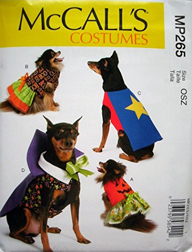 McCAlls Costumes Pattern MP265 Dog Costumes 4 Styles - Size S-XXL 6 1/2-9 Inches to 16-18 1/2 Inches ()