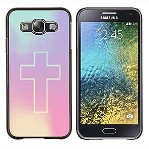 Dragon Case - FOR Samsung Galaxy E5 E500 - cross Christian purple god religion - Caja protectora de pl??stico duro de la cubierta Dise?¡Ào Slim Fit