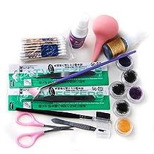 Coscelia False Individual Extension Black Eyelashes Glue Remover Tweezer Kit Set