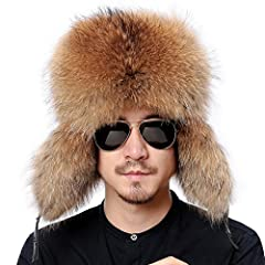 100% real raccoon fur made, fluffy and warm, suitable every ourdoor sports in winter. furtheremore, the genuine leather is made of waterproof material.