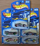 Hot Wheels 2003 Anime Series COMPLETE Set - Seared Tuner, Jaguar D Type, '68 Cougar, Olds Aurora GTS-1, Olds 442
