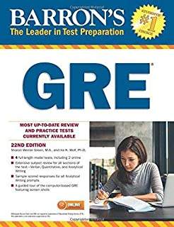 Barron's new gre: the leader in test preparation (with cd-rom.