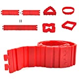 Prokitchen Silicone Cake Mold Magic Bake Snake,Nonstick Flexible Reusable Cake Pan DIY Baking Mould Tools - Create Any Shape of Cakes,Bread, Pizza,Pastry,Muffin,Red 4-Pack