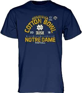 Elite Fan Shop Notre Dame Fighting Irish Cotton Bowl Tshirt 2018 Icon Charcoal
