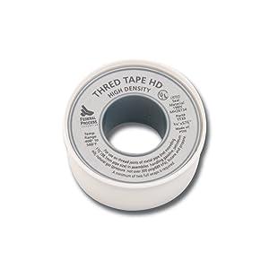 Gasoila TT33 White PTFE High Density Thread Tape Roll, -400 to 500 Degree F Performance Temperature, 3.9 mil Thick, 260
