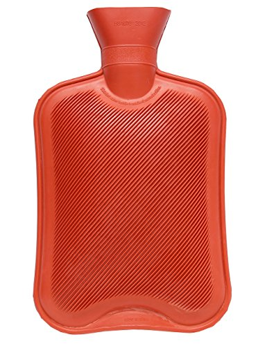 Cat Hot Water Bottle (HomeIdeas 2 Liter Full Size Natural Rubber Multifunctional Safe Hot Water Bottle (Red))