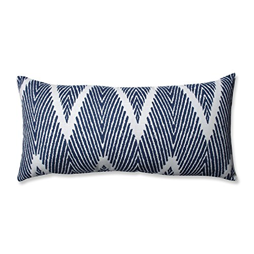 Pillow Perfect Bali Bolster Throw Pillow, Navy
