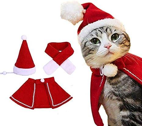 Lanlan Ting Navidad Disfraz de Gato/Perro Sombrero Capa ...