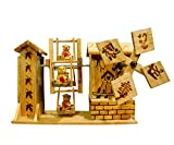 Auto Pearl Handmade Wooden Musical Jhula Toy For Kids.