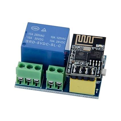 Amazon com: TeOhk ESP8266 WiFi Relay Module with ESP-01S
