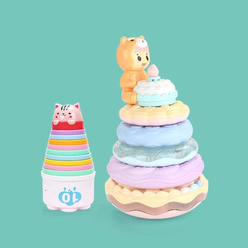 Pkjskh Simulación Soplando Vela Pastel Jenga Cumpleaños Canciones Aprendizaje temprano Iluminación 1-2-3 Años Juguetes infantiles Regalos de cumpleaños Juego de vasos Joy Stacking Entrenamiento de api: Amazon.es: Productos para mascotas