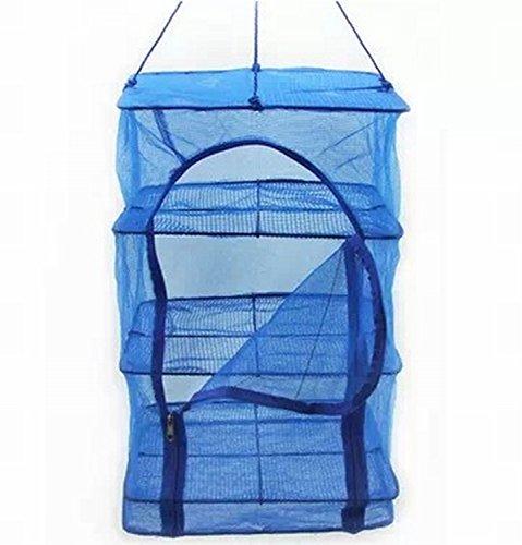 【Amateras】大型サイズ ドライネット 万能 干しかご 3段 50×50×55cm サイズも大きく便利! 野菜 魚 食器 室内 野外 アウトドアキャンプ OK【AM094】の商品画像