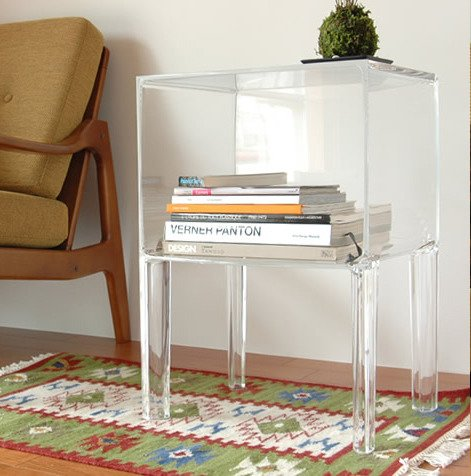 Kartell 3220B4 Table de nuit Small Ghost Buster (Transparent ...
