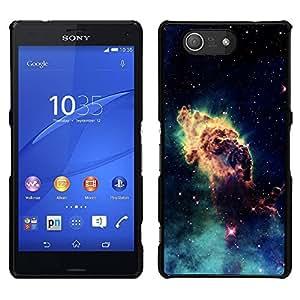 LECELL--Funda protectora / Cubierta / Piel For Sony Xperia Z3 Compact -- Espacio Planet Galaxy Estrellas 46 --