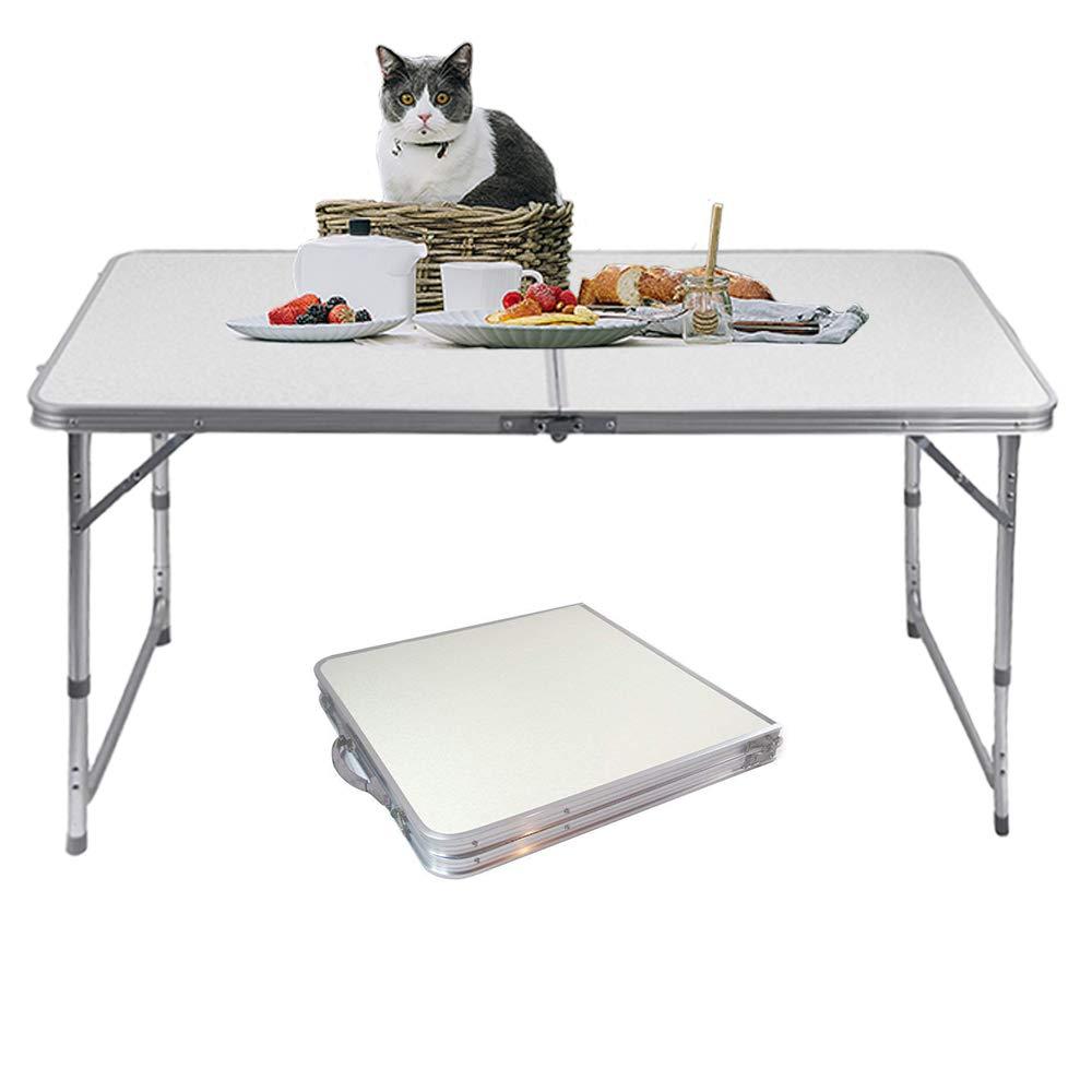 Jason Folding Camping Table Aluminum Lightweight Extra Strength Portable Indoor Outdoor (4FT)