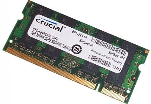 Crucial 2GB PC2-4200 DDR2 200-Pin SODimm Ram (Pc2 4200 Sdram 200 Pin)