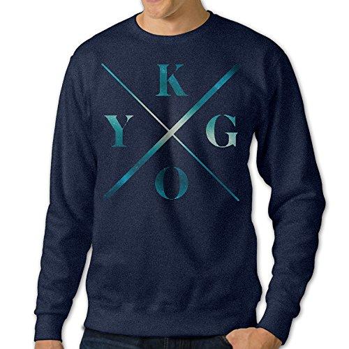 (FHFHQ Men's Crewneck Hooded Sweatshirt DJ Music Producer K/y/g/o Logo Navy Size M)