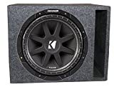 Kicker Comp 43C154 15'' 500W Car Subwoofer + Single Vented Sub Box Enclosure