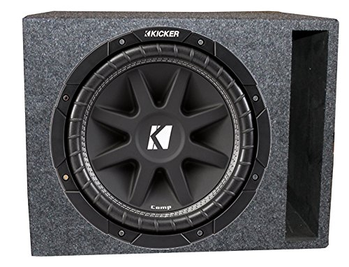 "Kicker Comp 43C154 15"" 500W Car Subwoofer + Single Vented Sub Box Enclosure"