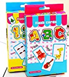 BabyGo Teach ABC and Numbers Counting Learning Educational Flash Cards Set of 2 (36 Cards Each)