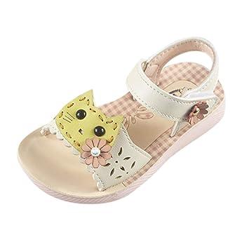 fb7e78faf1229c only storerine♚2019 été bébé Fille Sandales Cartoon Chat Chaussures  Enfants synthétique PU