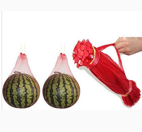 CUGBO 200pcs 12 Mesh Produce Bag Reusable Net Bag Nylon Toys Fruits Vegetables Drawstring Storage Poly Bags