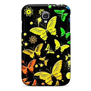 Unique Design Galaxy S4 Durable Tpu Case Cover Rainbow Butterflies