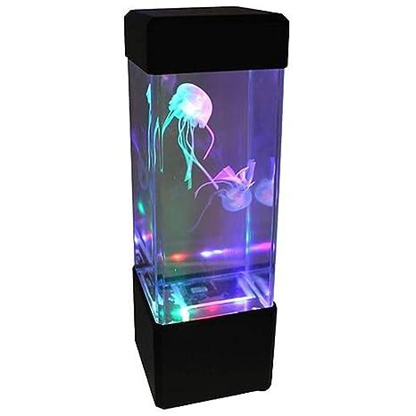 Ndier Luz de fantasía Medusas LED de Color Que Cambia la luz 5 Jelly Fish Acuario