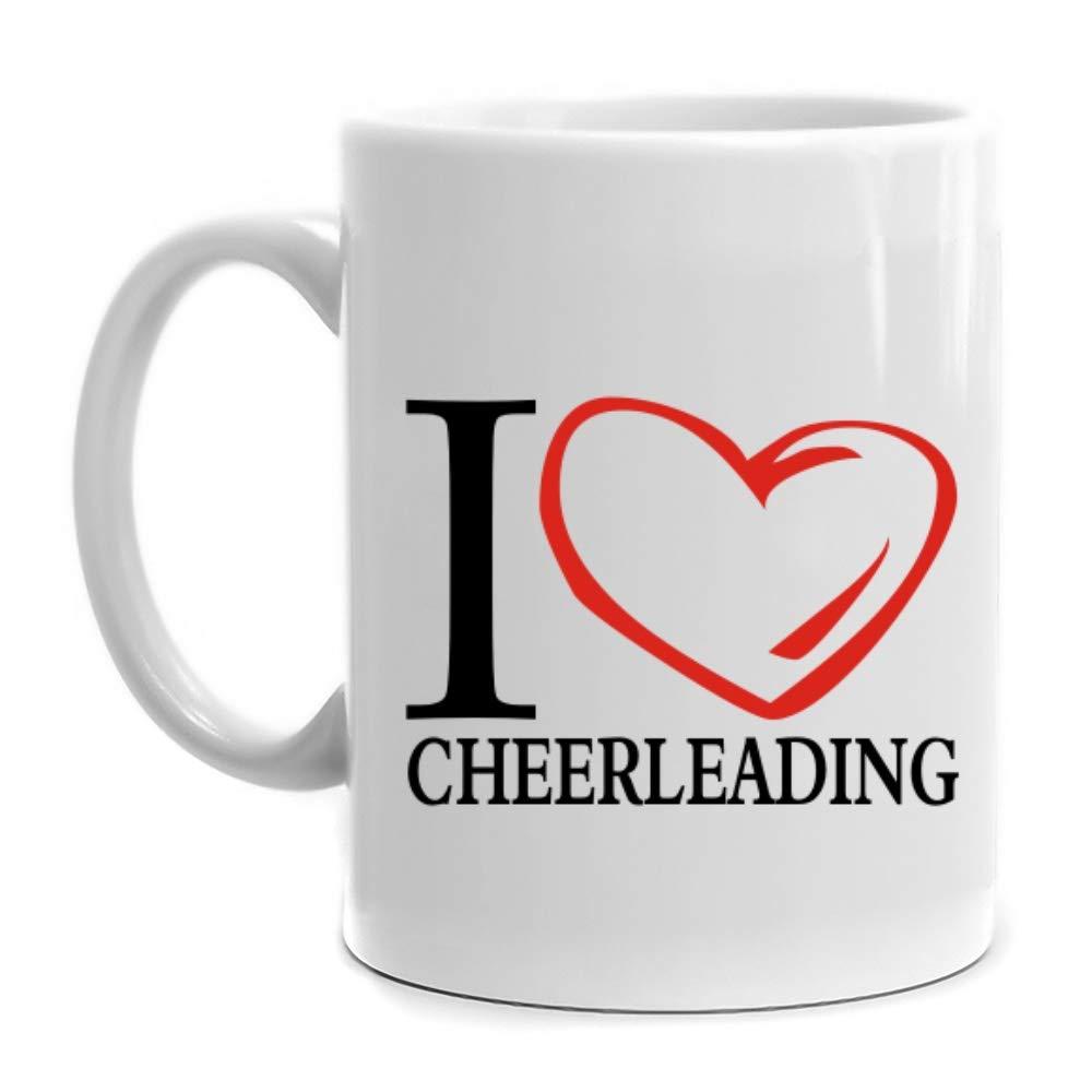 Eddany I love Cheerleading Heart Contour Mug