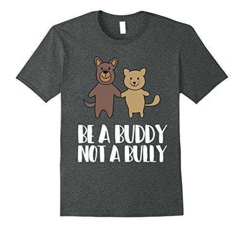Mens Be A Buddy Not A Bully - Anti Bullying Awareness T-Shirt Small Dark (Bullying Awareness Color)