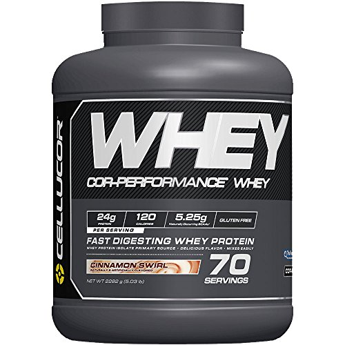 Cellucor Whey Protein Isolate & Concentrate Blend Powder with BCAA, Post Workout Recovery Drink, Gluten Free Low Carb Low Fat, Cinnamon Swirl, 70 Servings