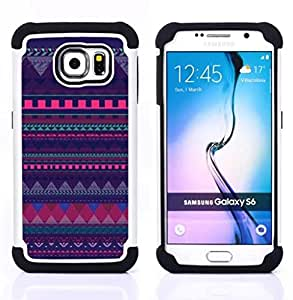 For Samsung Galaxy S6 G9200 - pattern purple chevron polygon lines Dual Layer caso de Shell HUELGA Impacto pata de cabra con im????genes gr????ficas Steam - Funny Shop -