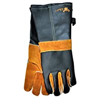 G & F Products 8115 Leather Gloves, Gran/Suede, grain