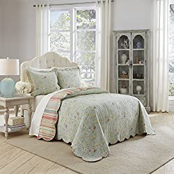 WAVERLY Garden Glitz Bedspread Collection, King, Vapor