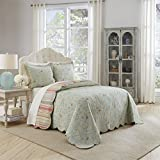 Waverly Garden Glitz Bedspread Collection, 110''x120'', Vapor